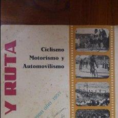 Coches y Motocicletas: REVISTA PISTA Y RUTA CICLISMO MOTORISMO Y AUTOMOVILISMO 1957 MOTOCICLISMO COCACOLA DERBY MOBILETTE. Lote 43409370