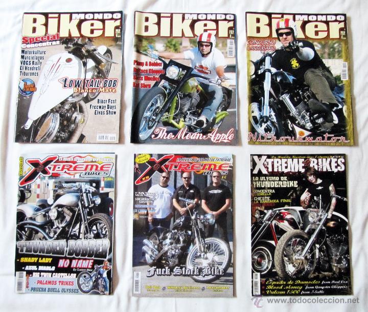 3 REVISTAS DE MONDO BIKER + 3 REVISTAS DE XTREME BIKES (Coches y Motocicletas - Revistas de Motos y Motocicletas)
