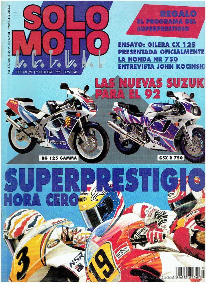 Coches y Motocicletas: REVISTA, SOLO MOTOS, ACTUAL Nº 803 OCTUBRE DE 1991 - Foto 1 - 43658885