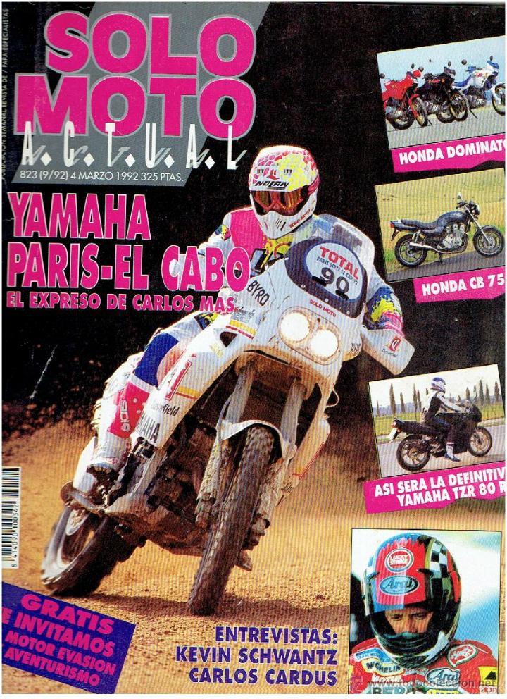REVISTA, SOLO MOTOS, ACTUAL Nº 823 MARZO DE 1992 (Coches y Motocicletas - Revistas de Motos y Motocicletas)
