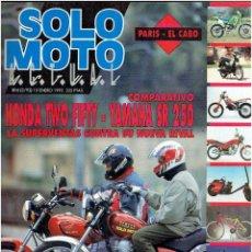 Coches y Motocicletas: REVISTA , SOLO MOTO ENERO DE 1992. Lote 43911535