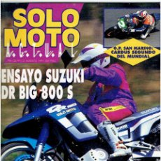 Coches y Motocicletas: REVISTA, SOLO MOTO AGOSTO DE 1991. Lote 98200454