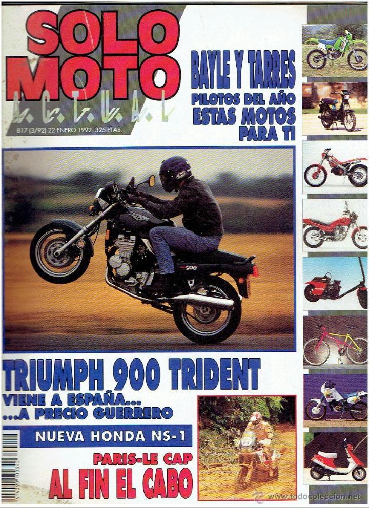 REVISTA , SOLO MOTO ENERO DE 1992 (Coches y Motocicletas - Revistas de Motos y Motocicletas)
