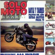 Coches y Motocicletas: REVISTA , SOLO MOTO ENERO DE 1992 . Lote 43911950
