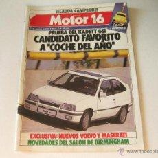 Coches y Motocicletas: REVISTA MOTOR 16 NUMERO 53 DEL AÑO 1984 - PRUEBA DEL OPEL KADETT GSI. Lote 43955755