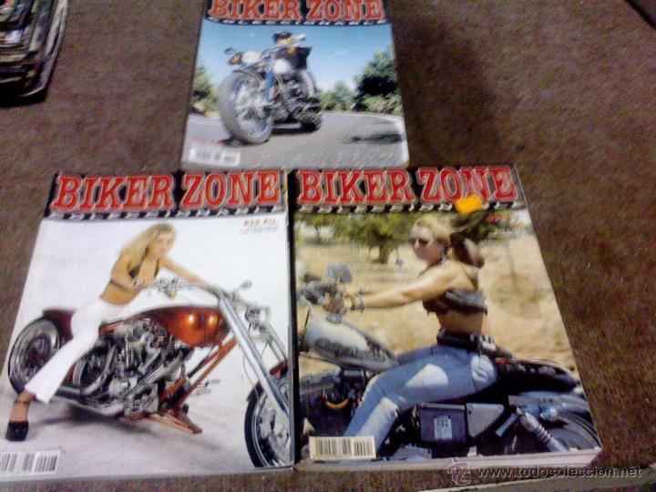 LOTE DE 3 REVISTAS MOTOS BIKER ZONE COLECCIONABLE (Coches y Motocicletas - Revistas de Motos y Motocicletas)