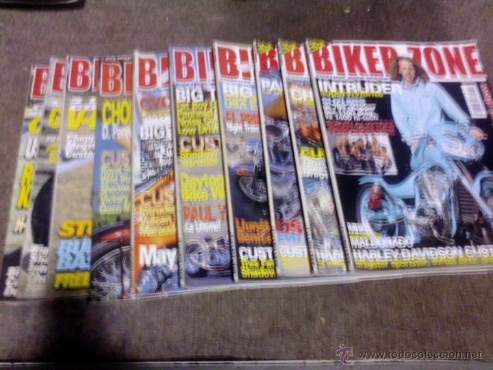 LOTE DE 10 REVISTAS MOTOS BIKER ZONE AÑO 2001 (Coches y Motocicletas - Revistas de Motos y Motocicletas)