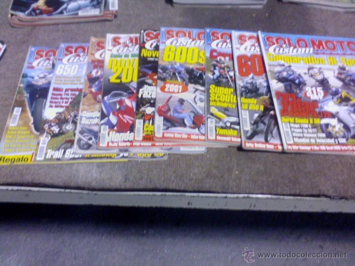 LOTE DE 9 REVISTAS SOLO MOTO CUSTOM (Coches y Motocicletas - Revistas de Motos y Motocicletas)