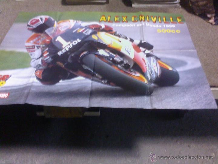 POSTER ALEX CRIVILLE Y ALZAMORA 80 X 55 CM. MAS REGALO (Coches y Motocicletas - Revistas de Motos y Motocicletas)