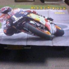 Coches y Motocicletas: POSTER ALEX CRIVILLE Y ALZAMORA 80 X 55 CM. MAS REGALO. Lote 44466768