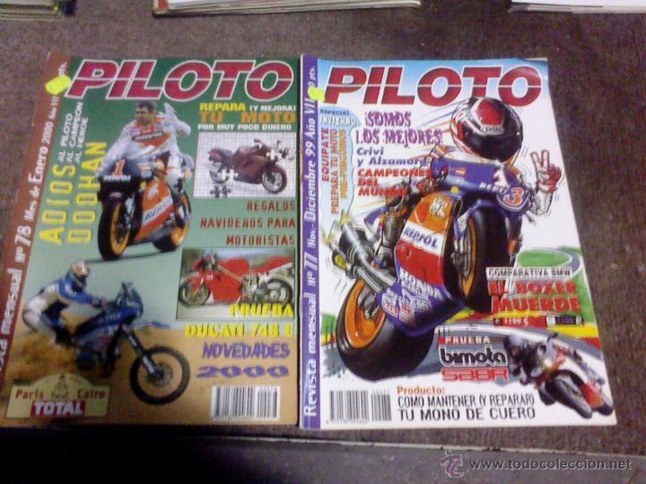 LOTE DE 2 REVISTAS MOTO PILOTO (Coches y Motocicletas - Revistas de Motos y Motocicletas)