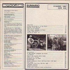 Coches y Motocicletas: MOTOCICLISMO 649. Lote 44655808
