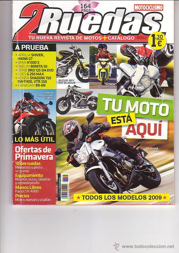 2 RUEDAS 8 (Coches y Motocicletas - Revistas de Motos y Motocicletas)