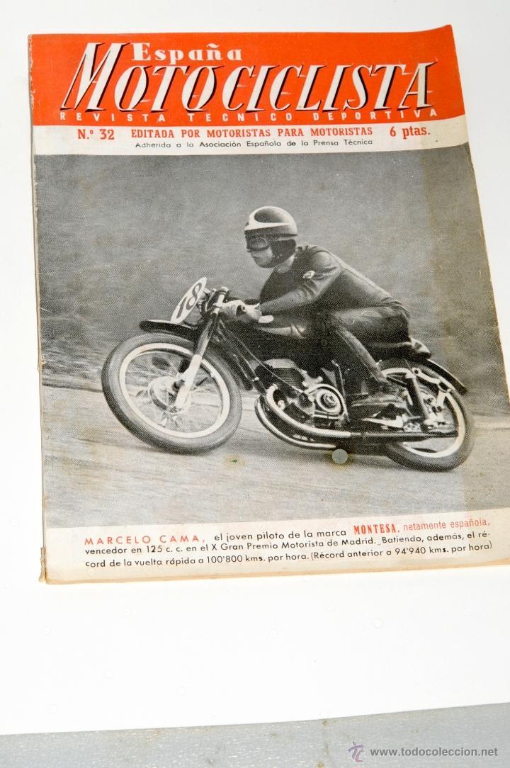 REVISTA MOTOCICLISTA Nº 32 AÑO 1954 (Coches y Motocicletas - Revistas de Motos y Motocicletas)