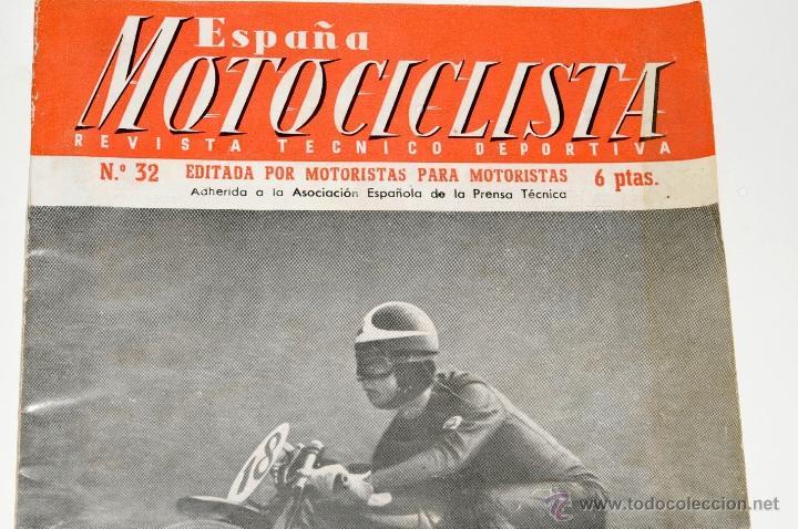 Coches y Motocicletas: REVISTA MOTOCICLISTA Nº 32 AÑO 1954 - Foto 2 - 44746932