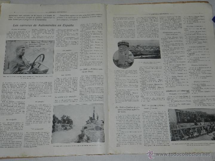 Coches y Motocicletas: REVISTA LA JORNADA DEPORTIVA, PRIMER NUMERO ESPECIAL DEDICADO AL GRAN PREMIO PENYA RHIN 1921 - Foto 3 - 44772328