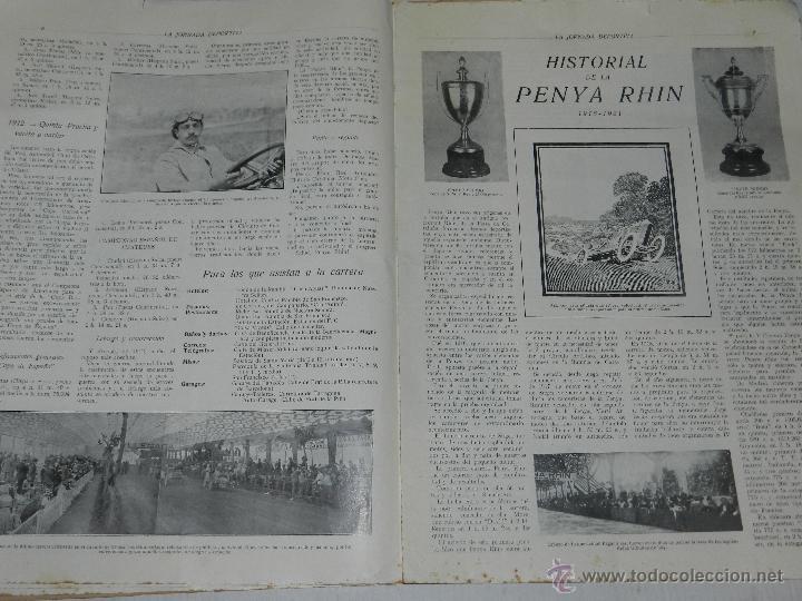 Coches y Motocicletas: REVISTA LA JORNADA DEPORTIVA, PRIMER NUMERO ESPECIAL DEDICADO AL GRAN PREMIO PENYA RHIN 1921 - Foto 4 - 44772328