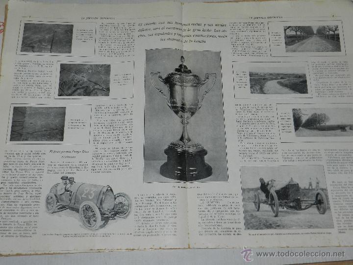 Coches y Motocicletas: REVISTA LA JORNADA DEPORTIVA, PRIMER NUMERO ESPECIAL DEDICADO AL GRAN PREMIO PENYA RHIN 1921 - Foto 5 - 44772328