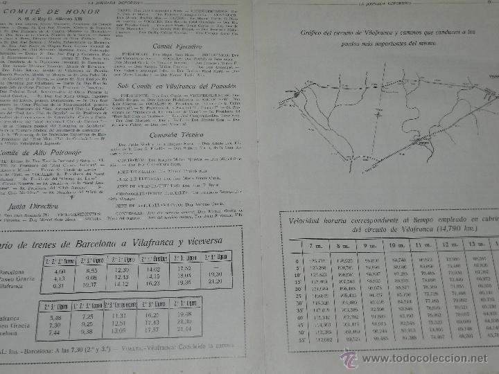 Coches y Motocicletas: REVISTA LA JORNADA DEPORTIVA, PRIMER NUMERO ESPECIAL DEDICADO AL GRAN PREMIO PENYA RHIN 1921 - Foto 6 - 44772328