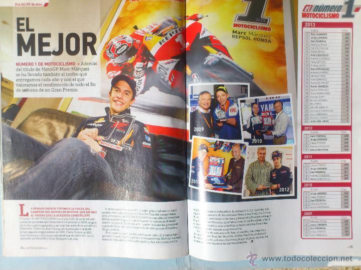 Coches y Motocicletas: MOTOCICLISMO Nº 2390 MARQUEZ CAMPEON MOTO GP + POSTER - Foto 3 - 45262774