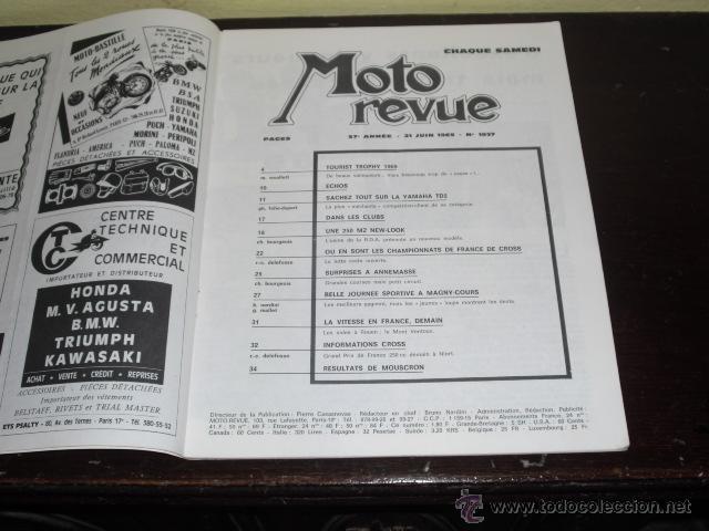 Coches y Motocicletas: MOTO REVUE N º 1937 AÑO 1969 - TOURIST TROPHY 1969 - PRUEBA NUEVA MZ 250 - - Foto 2 - 45304449