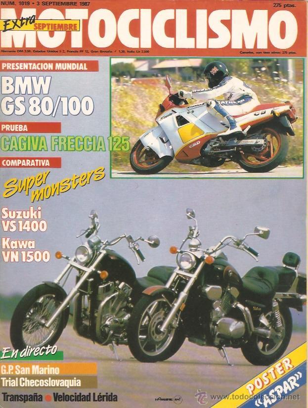 MOTOCICLISMO 1019 1987 BMW GS80/100 CAGIVA FRECCIA 125 (Coches y Motocicletas - Revistas de Motos y Motocicletas)