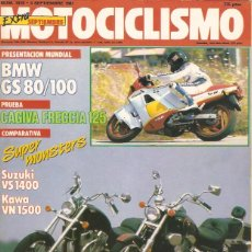 Coches y Motocicletas: MOTOCICLISMO 1019 1987 BMW GS80/100 CAGIVA FRECCIA 125. Lote 45527340