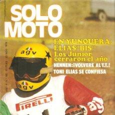 Coches y Motocicletas: REVISTA SOLO MOTO Nº 168 23-10-78 MONTESA CAPRA 250 VE. Lote 45588924