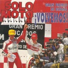 Coches y Motocicletas: REVISTA SOLO MOTO Nº833 13-5-92 LAVERDA 650 PGO GALAXY 90. Lote 45591260