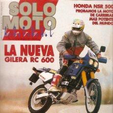 Coches y Motocicletas: REVISTA SOLO MOTO Nº 766 23-1-91 GILERA RC 600 HONDA NSR 500. Lote 45591680