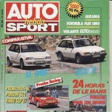 Coches y Motocicletas: REVISTA AUTO HEBDO SPORT Nº 121 AÑO 1987. COMPARATIVA: CITROEN AX SPORT Y FORD FIESTA XR2. PRUEBA RA. Lote 123393646