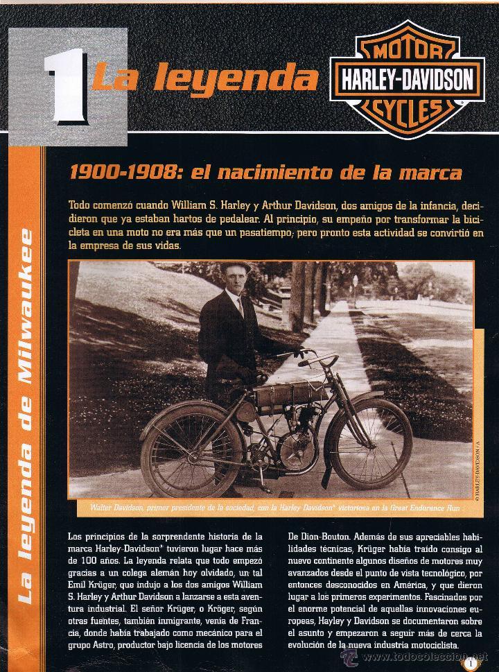 Coches y Motocicletas: COLECCION OFICIAL HARLEY DAVIDSON MOTOR CYCLES - 48 FASCICULOS - FALTAN Nºs 12 Y 23 - FOTOS ADIC - Foto 3 - 45776221