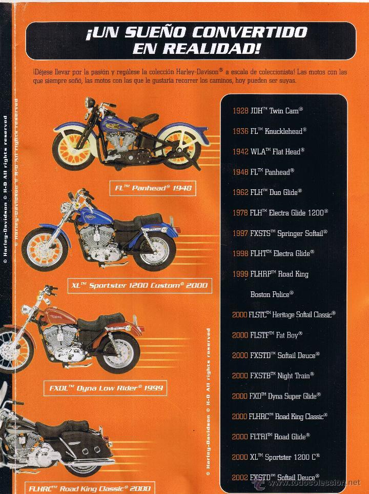 Coches y Motocicletas: COLECCION OFICIAL HARLEY DAVIDSON MOTOR CYCLES - 48 FASCICULOS - FALTAN Nºs 12 Y 23 - FOTOS ADIC - Foto 4 - 45776221