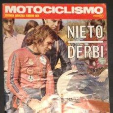Coches y Motocicletas: REVISTA MOTOCICLISMO SEGUNDA QUINCENA FEBRERO 1974 DUCATI 750 SPORT AÑOS 70. Lote 46436875
