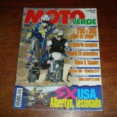 Coches y Motocicletas: REVISTA - MOTO VERDE. Nº 199 AÑO 1995. Lote 46564341
