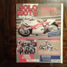 Coches y Motocicletas: SOLO MOTO NO 772 - 6 MARZO 1991 - HONDA TRANSALP - VESPA 125 - BIMOTA TESI - ALFER TX. Lote 46710259