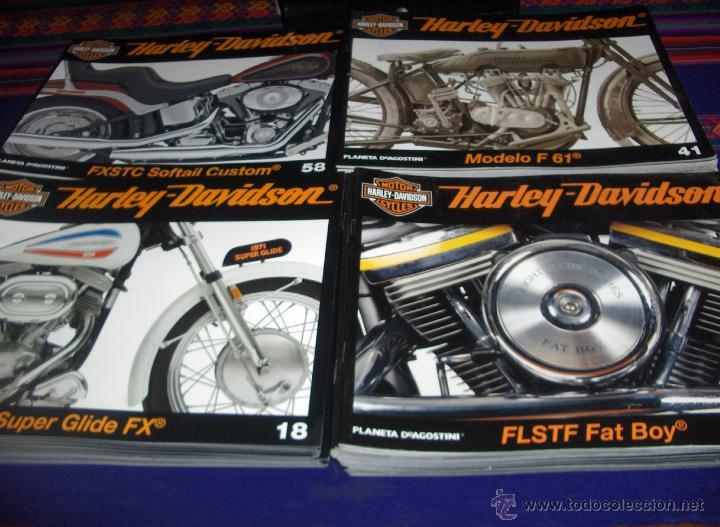 MOTOR CYCLES HARLEY DAVIDSON FROM THE PAST TO THE FUTURE NºS 1 AL 72 CON ESTUCHE PLANETA 2008. BE. (Coches y Motocicletas - Revistas de Motos y Motocicletas)