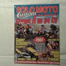 Coches y Motocicletas: SOLO MOTO AGOSTO 2000. YAMAHA T MAX. HONDA TRANSALP. GILERA DNA. VESPA MP6. SUZUKI SV 650. CAGIVA.. Lote 46876944