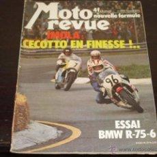 Coches y Motocicletas: MOTO REVUE Nº 2215-ABRIL 1975 - PRUEBA BMW R-75/6 - 200 MILAS DE IMOLA -. Lote 46989991