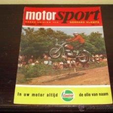 Coches y Motocicletas: MOTOR SPORT - NOVEMBER 1969 - HONDA CB 750 - CZ CROSS -. Lote 47021963