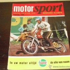 Coches y Motocicletas: MOTOR SPORT - AGOSTO 1969 - BMW R69S - PRUEBA DUCATI DESMO 450 -.GP FRANCORCHAMPS -TT 69 -DERBI -. Lote 47022153