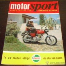 Coches y Motocicletas: MOTOR SPORT - MARZO 1969 - MORINI PRODUCTION RACER - ENTREVISTA MIKE HAILWOOD- SIDE-CARS HOLANDESES-. Lote 47022327