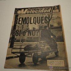Carros e motociclos: REVISTA VELOCIDAD NUM 72 DE 1963 VESPA CON REMOLQUE, TRICICLOS, . Lote 47082760