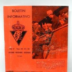 Coches y Motocicletas: REAL MOTO CLUB DE ESPAÑA, BOLETIN INFORMATIVO NUMS. 124 - 125 - 126, OCTUBRE, NOVIEMBRE, DICIEMBRE D. Lote 47401954