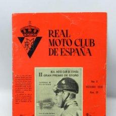 Coches y Motocicletas: REAL MOTO CLUB DE ESPAÑA, BOLETIN INFORMATIVO NUMS. 112, OCTUBRE 1959, CON PUBLICIDAD DE VESPA, TIEN. Lote 47403226
