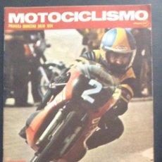 Coches y Motocicletas: REVISTA MOTOCICLISMO PRIMERA QUINCENA JULIO 1974 BULTACO CHISPA 50. Lote 47534411