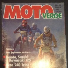 Coches y Motocicletas: REVISTA DE 1982 MOTO VERDE NUMERO Nº 44 MONTESA 348 TRIAL SWM 75 TT. Lote 47806439