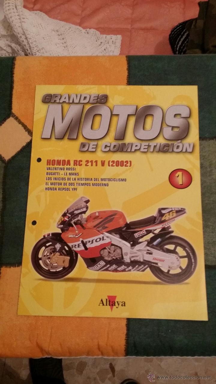 FASCÍCULO Nº 1 DE GRANDES MOTOS DE COMPETICIÓN (Coches y Motocicletas - Revistas de Motos y Motocicletas)