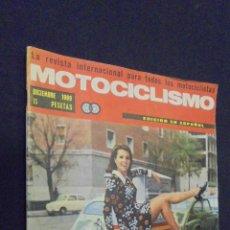 Coches y Motocicletas: REVISTA MOTOCICLISMO. DICIEMBRE 1969. PRUEBA MT 50.. Lote 48211661
