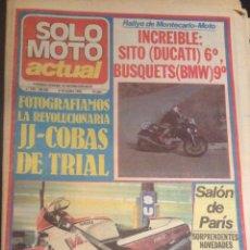 Coches y Motocicletas: REVISTA PERIODICO SOLO MOTO ACTUAL DE 1983 Nº 399 JJ COBAS TRIAL . Lote 48307566